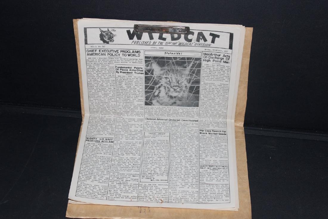 24 ISSUES 1945 WARTIME WILDCAT AS PLACED IN FOLDER BY