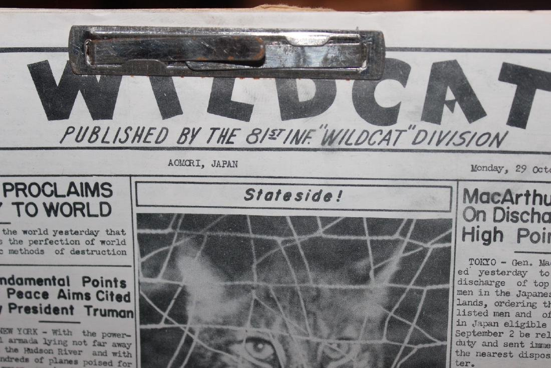 24 ISSUES 1945 WARTIME WILDCAT AS PLACED IN FOLDER BY - 2