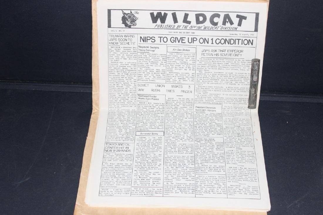 24 ISSUES 1945 WARTIME WILDCAT AS PLACED IN FOLDER BY - 9
