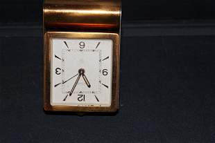 NICE LE COUTRE 8 DAY TRAVEL CLOCK ORIG BOX NOT