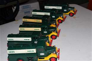 LOT OF 6 HESS OIL DELIVERY TRUCKS 2 ARE 1ST HESS