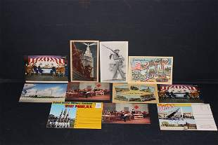 9 POSTCARDS 2 VIEW FOLDERS ALL MILITARY