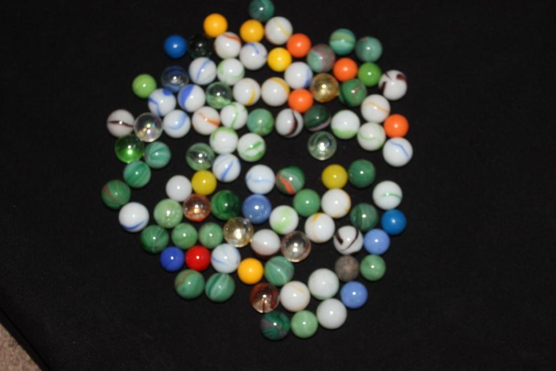 85 SMALL COLORFUL MARBLES GOOD CONDITION - 2