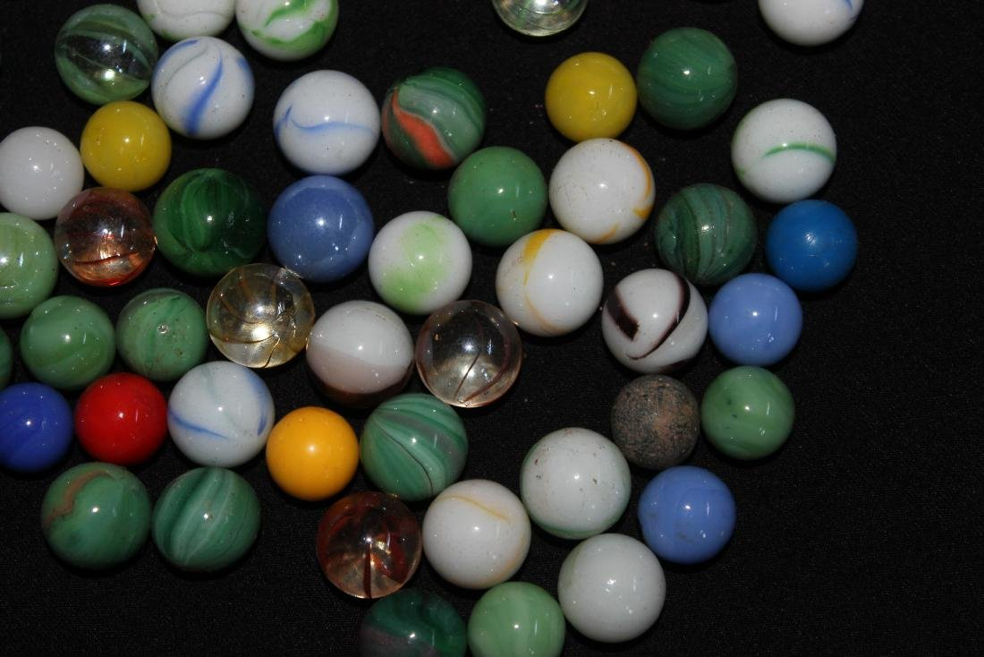 85 SMALL COLORFUL MARBLES GOOD CONDITION - 5