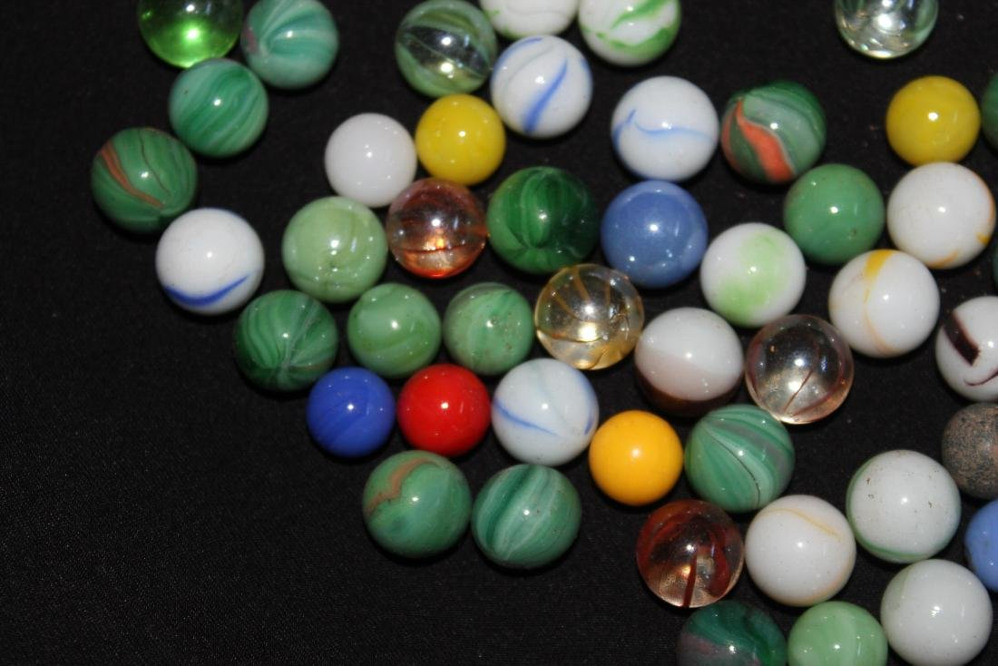 85 SMALL COLORFUL MARBLES GOOD CONDITION - 6