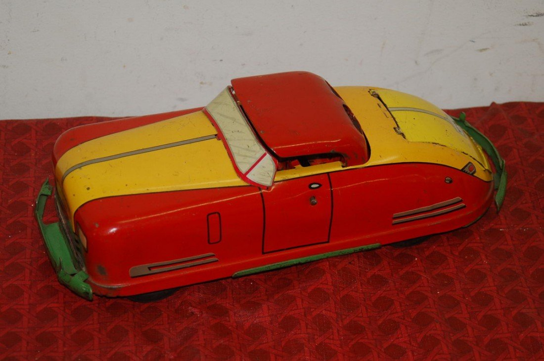 """5: PRESSED TIN WIND UP TOY  BY WYAN DOTTE 12"""" LONG"""