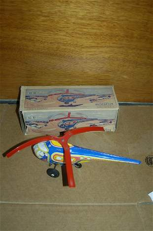 MECHANICAL HELICOPTER IN ORIGINAL BOX BY CHEN & CO.