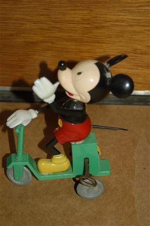 """MICKEY ON SCOOTER BY MAVCO - 8"""" HIGH"""