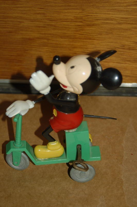 """1J: MICKEY ON SCOOTER BY MAVCO - 8"""" HIGH"""