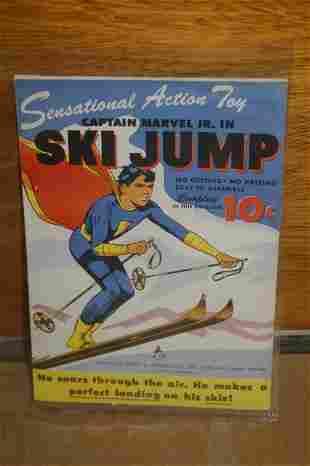 CAPTAIN MARVEL JR. IN SKI JUMP - FLYING CUTOUT