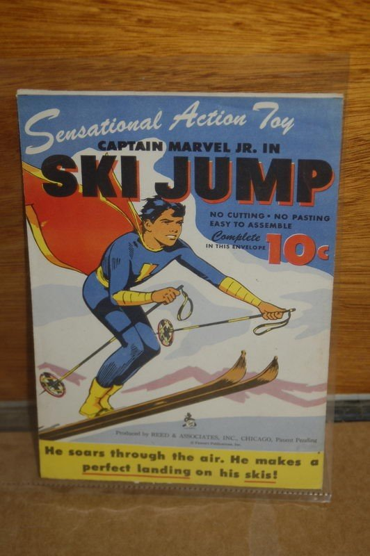 1M: CAPTAIN MARVEL JR. IN SKI JUMP - FLYING  CUTOUT