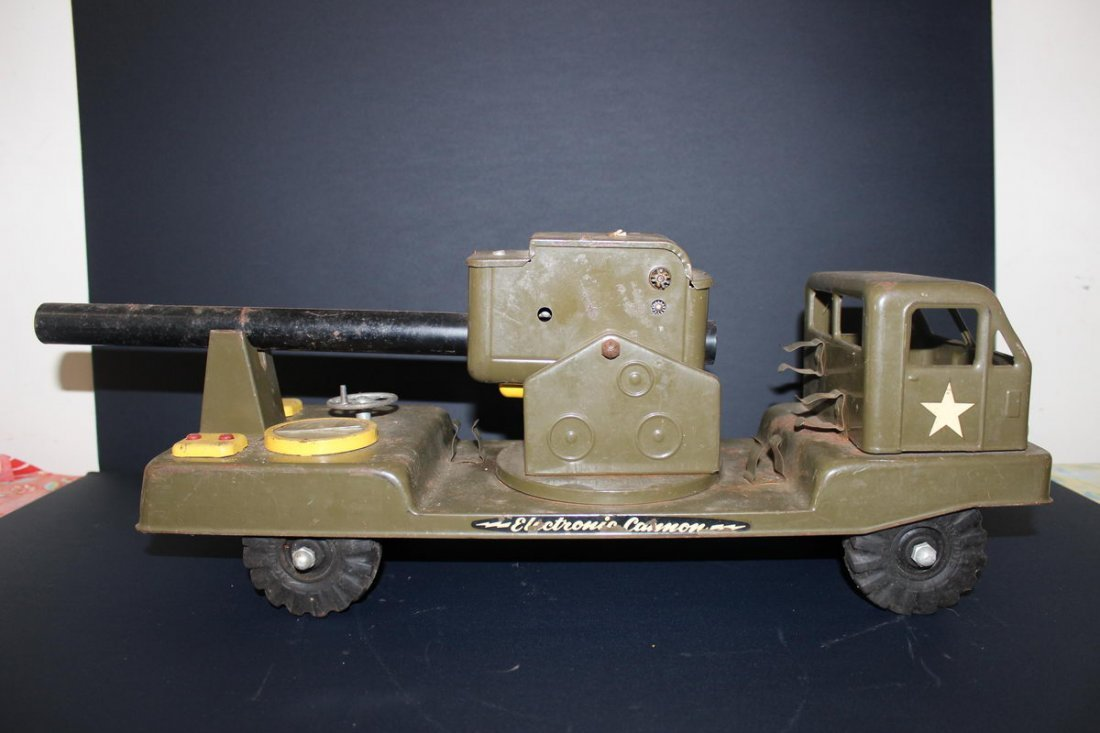 """12: ARMY CANNON TRUCK - NYLINT - 23"""""""