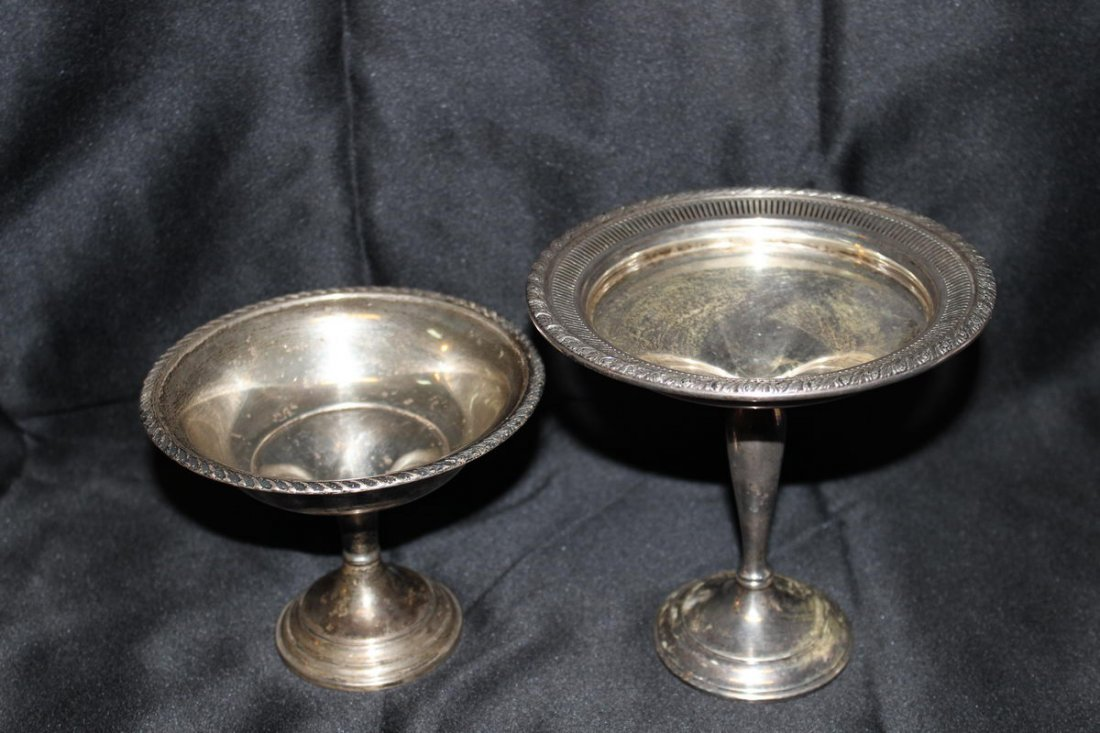 2: 2 STERLING CANDY DISHES