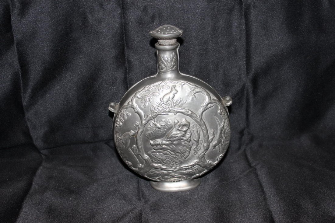 3: MOST UNUSUAL PEWTER CANTEEN