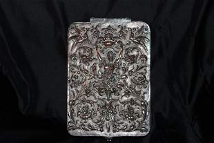 """TURN OF THE CENTURY SILVER PLATED BOX - 11.5"""" X 8"""""""