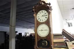 """98: MAGNIFICENT ITHACA CALENDAR CLOCK - 58"""" TALL - WORK"""