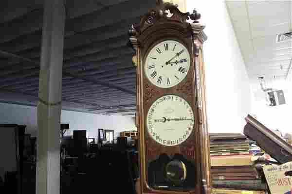 """MAGNIFICENT ITHACA CALENDAR CLOCK - 58"""" TALL - WORK"""