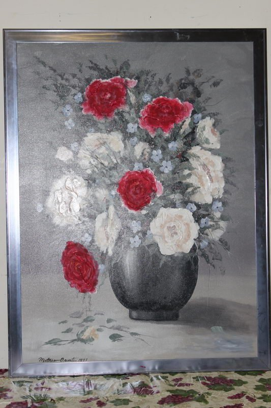 """10: ROSES OIL ON CANVAS BY MATTHEW ORANTE - 51"""" X 39"""" -"""