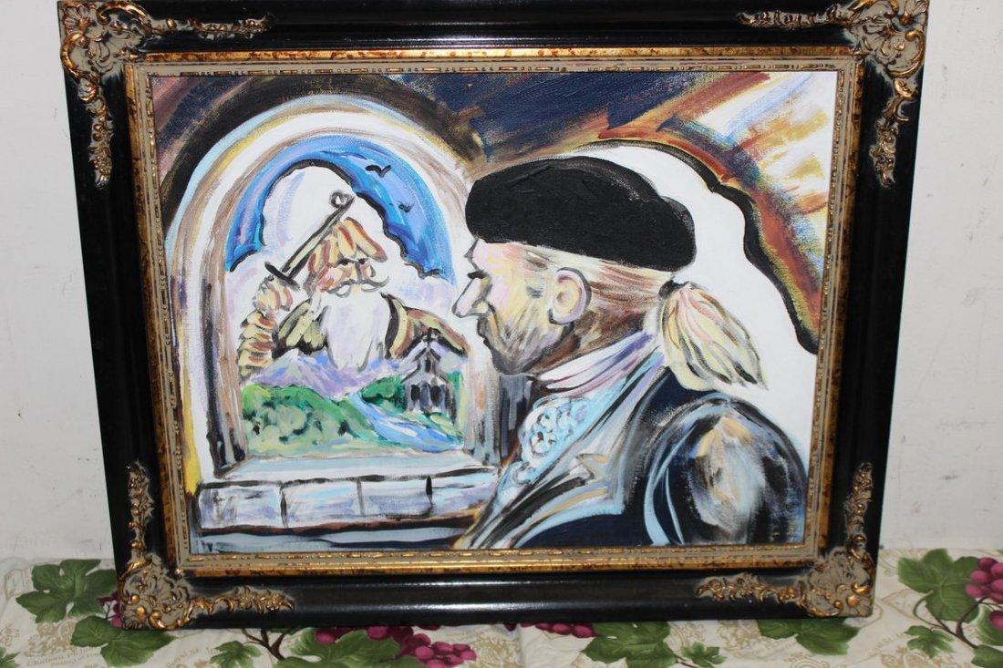 11: OIL ON BOARD BY ARTIST JIM NATONSKI PAINTED FOR MAT