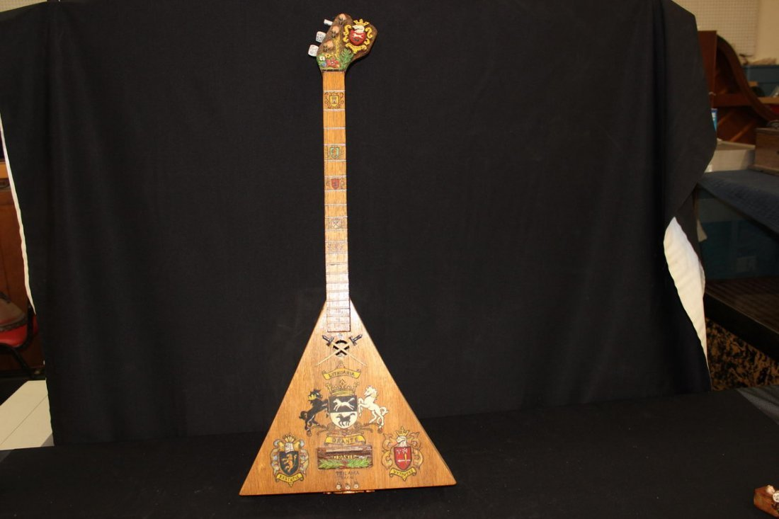 18: LITHUANIA 3 STRINGED INSTRUMENT HAND MADE BY ARTIST