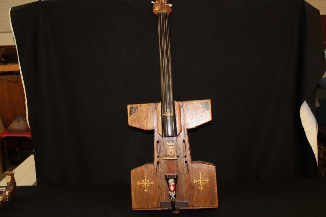 19: LITHUANIA 4 STRINGED INSTRUMENT HAND MADE BY MATTHE