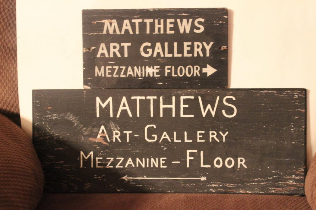 1A: THESE SIGNS HUNG IN MATTHEWS MEN SHOP I NAMSTERDAM
