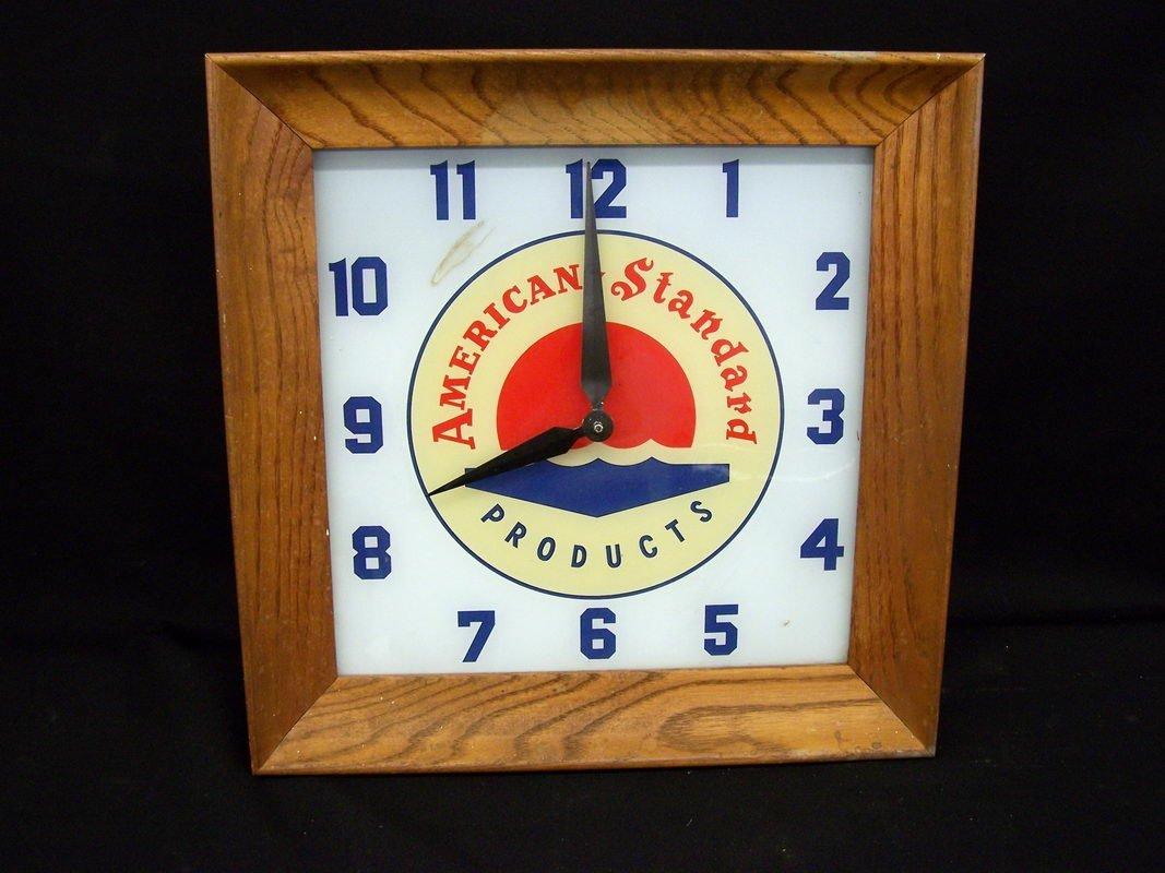 10: AMERICAN STANDARD ADV. CLOCK
