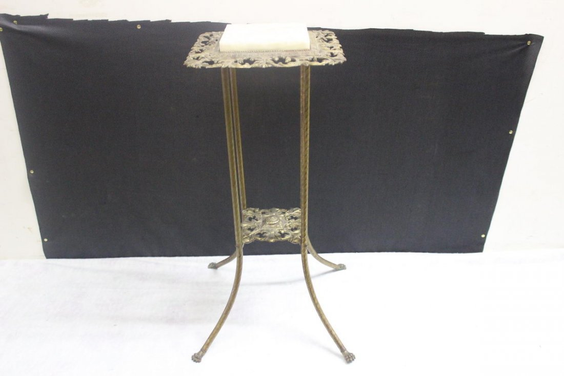 1: BRASS & MARBLE LAMP STAND