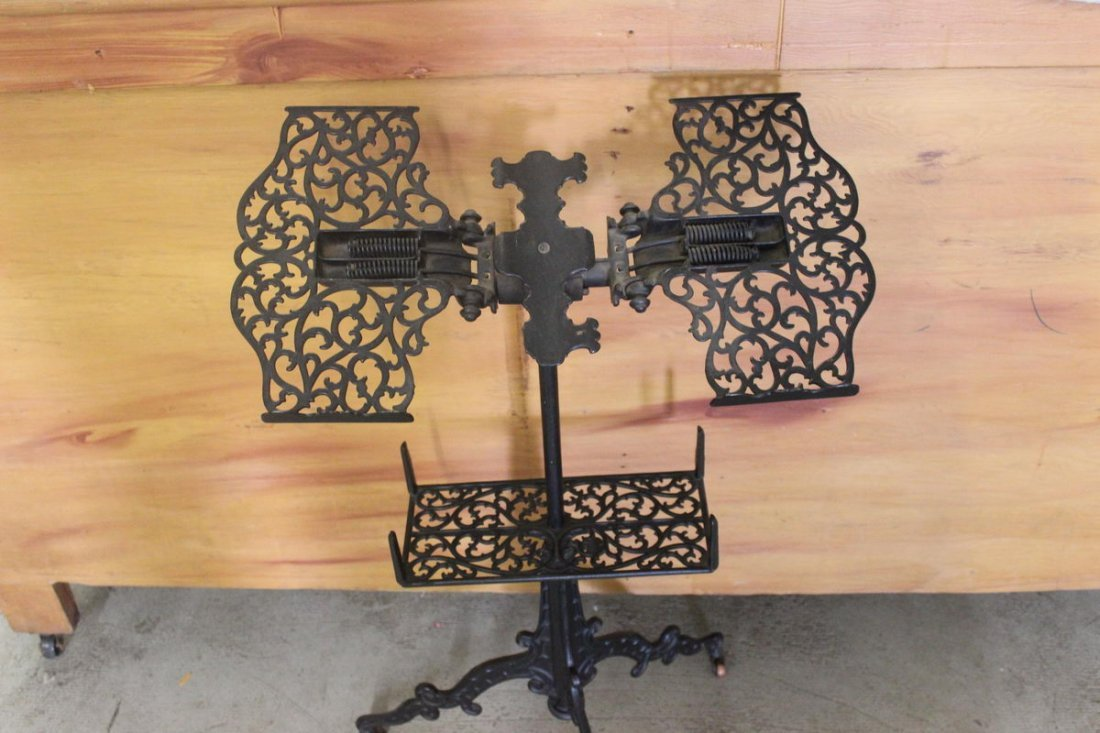 2: GREAT ORNATE BIBLE STAND - MINT COND. - ADJUSTABLE
