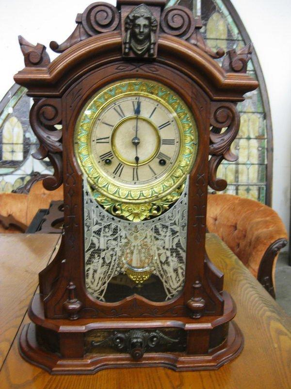 113: GREAT ANSONIA (MONARCH) MANTLE CLOCK