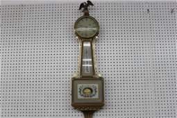 43: WONDERFUL S. WILLARD BANJO CLOCK WORKING AND ALL OR