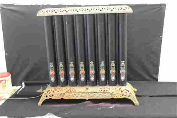 VICTORIAN GAS FED RADIATOR, LIGHTS HAVE BEEN ADDED