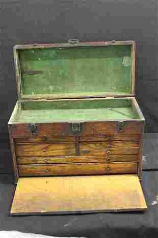 GREAT MACHINIST CHESTS WITH FELT INTERIOR HANDLES IN
