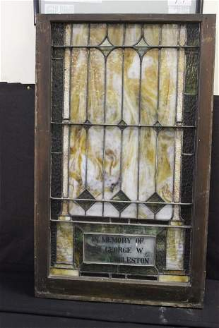 PRESENTATION WINDOW FROM THE EGGLESTON FAMILY