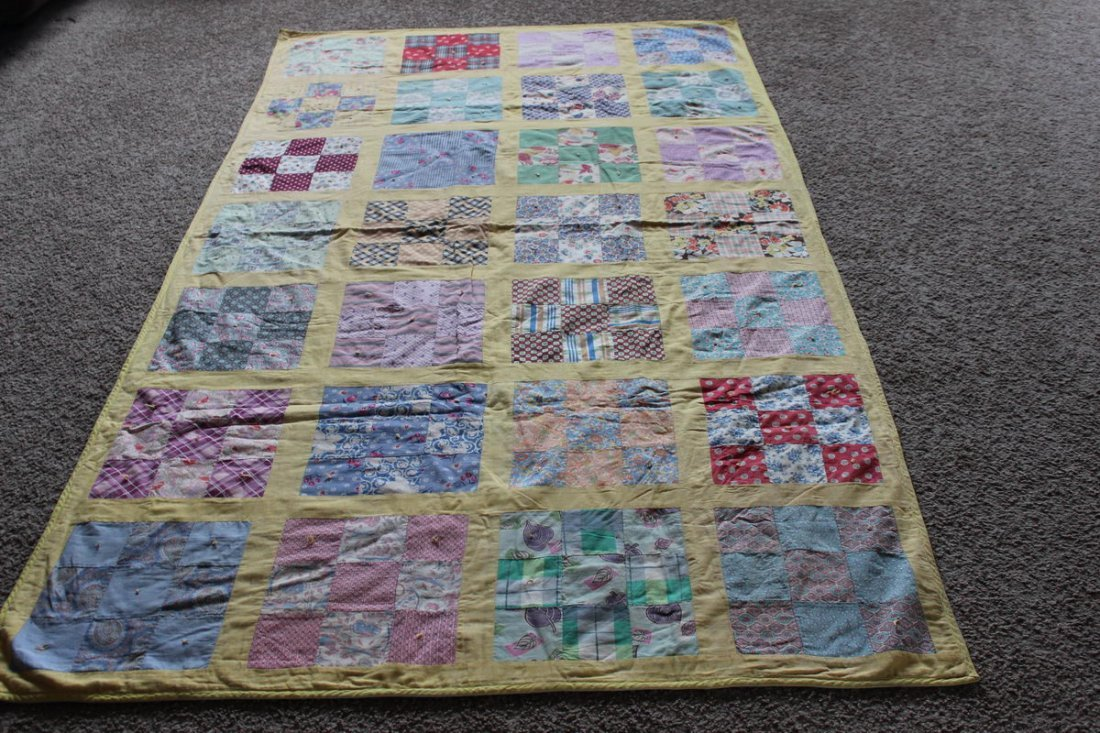 11: FULL-SIZE QUILT - GOOD CONDITION