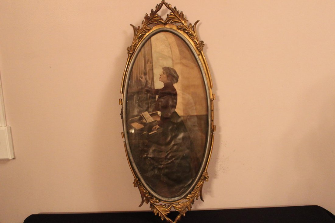 23: ONE OF THE MOST UNIQUE OVAL VICTORIAN FRAMES EVER W