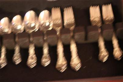 21: GORHAM STERLING SERVICE FOR 8 W/ 4 SERVING PIECES C