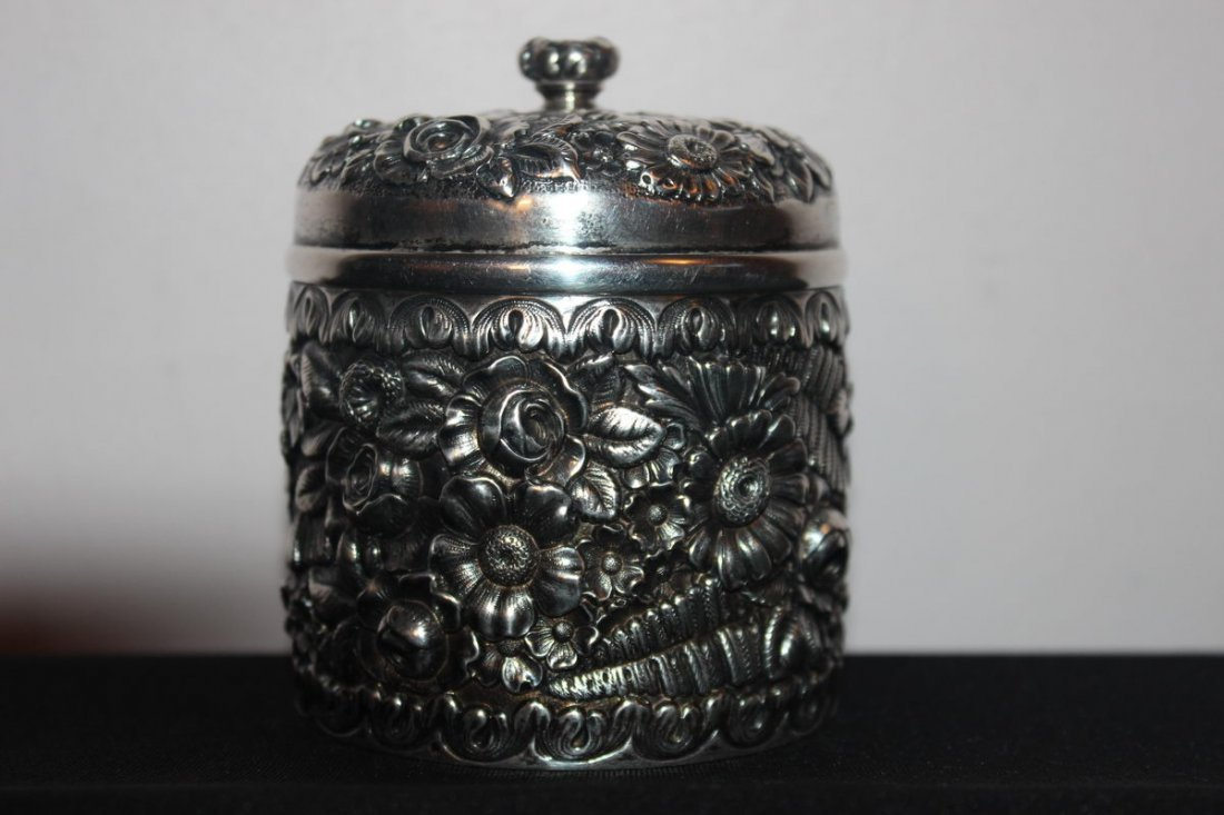 27: TERRIFIC TIFFANY DRESSER JAR MINT CONDITION VERY OR