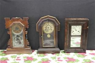 THREE CLOCKS NEED REPAIR COMPLETE