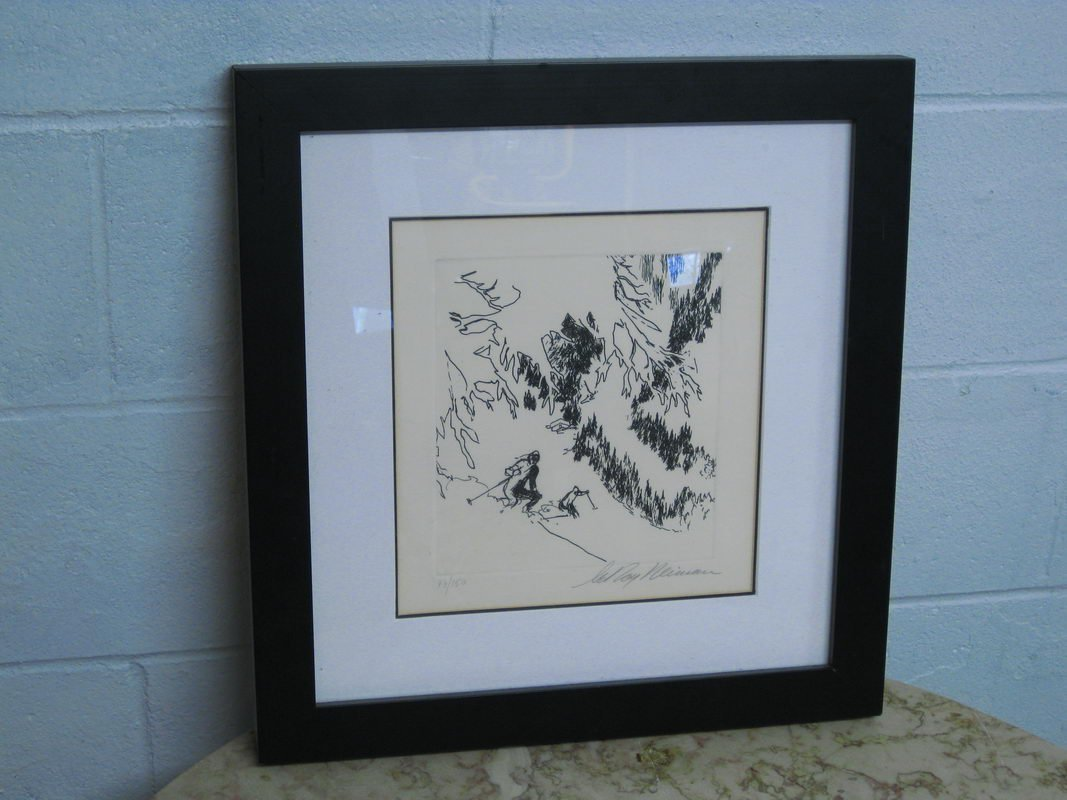 78: RARE ETCHING SIGNED BY LEROY NEIMAN NUMBERED 77/150
