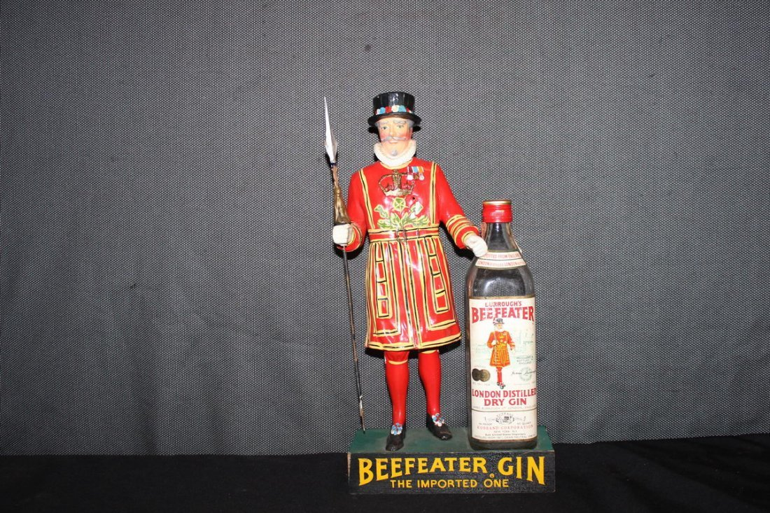 WOODEN BEEFEATER GIN DISPLAY ALL GOOD