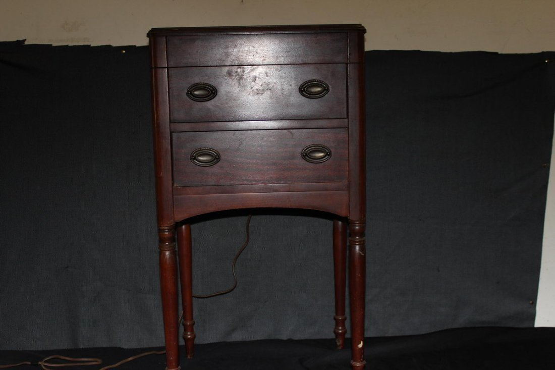 WONDERFUL AND UNUSUAL TWO DRAWER BEAUTY CABINET FULL PL