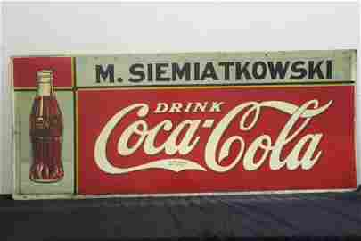 1 OF THE BEST COUNTRY STORE COCA COLA TIN SIGNS YOU'LL