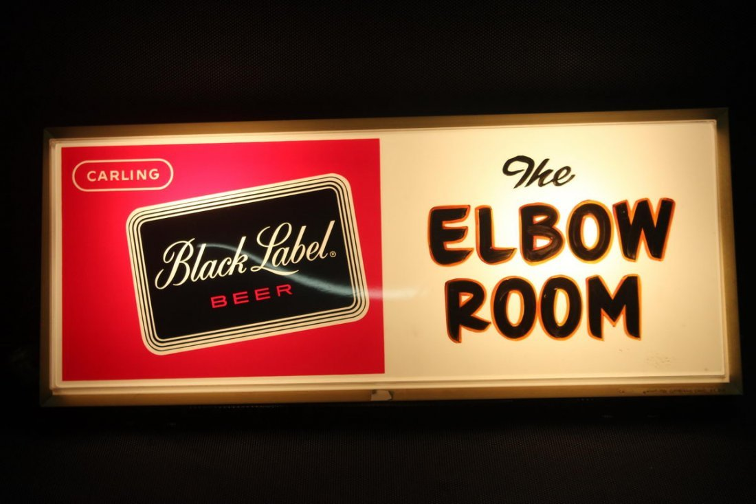 BLACK LABEL - THE ELBOW ROOM - 24.5 X 10 - LIGHTS UP