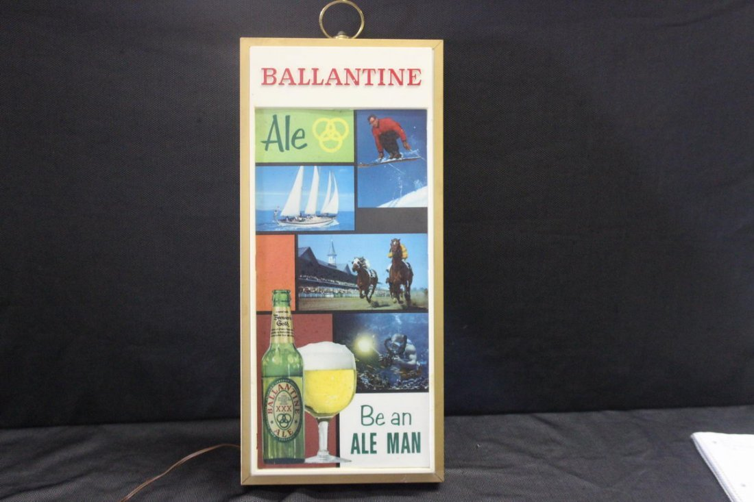BALLANTINE ALE LIGHT UP SIGN - 25 X 11