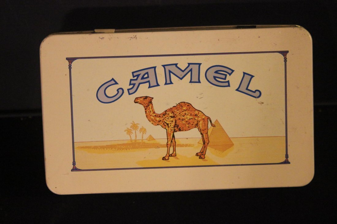 NEAT CAMEL CIGARETTE CASE WITH CARTON OF 50 UNOPENED MA