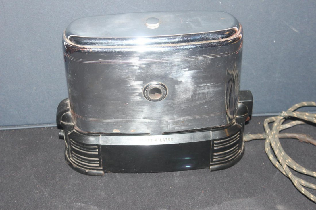 DECO STYLE ALL CHROME AND BAKELITE SIDE LOAD DOUBLE SLI