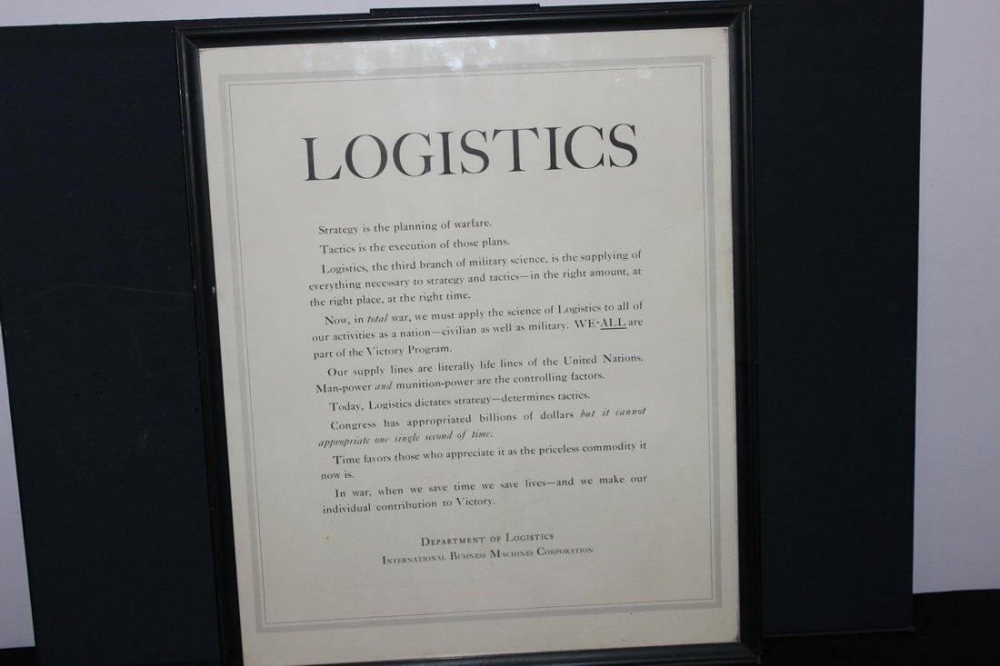 PRINTED DURING WORLD WAR II DEPARTMENT OF LOGISTICS I.B