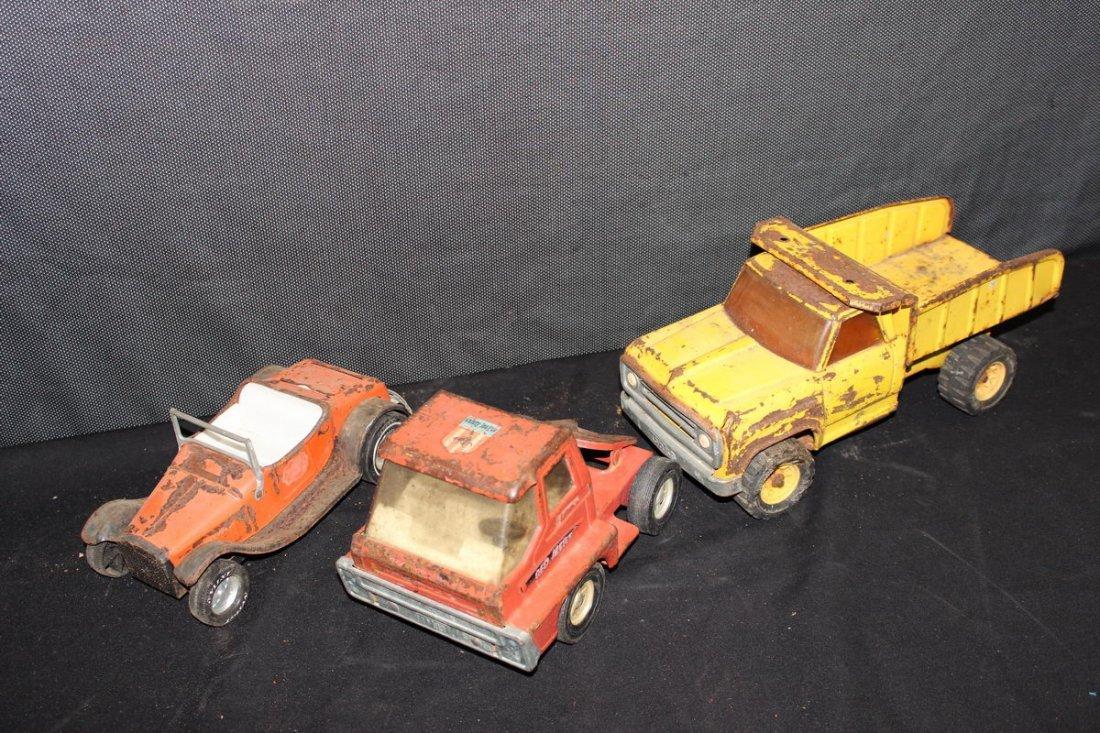 3 NICE TOYS - TONKA DUMP - NYLINT CAR - CANADA MADE TRA - 2