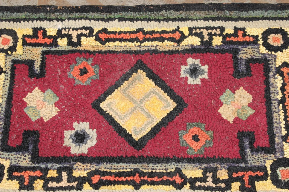 INTERESTING RUG COULD BE INDIAN MADE 30 X 18